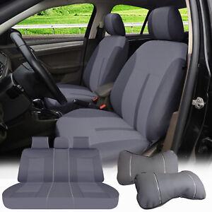 Car Seat Covers 5 Seats Semi-Custom Fabric+2 Pillows for RAV4 Tacoma 60161 Gray