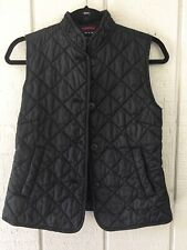 Gap Womens Black Quilted Sleeveless Jacket Vest Full Zip Size Xs