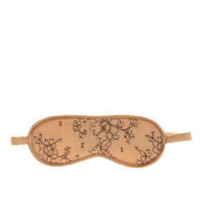 COCO DE MER LONDON Sleep Eye Mask Silk Blend Lace Front Padded Made in Portugal