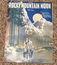 "[COL] Vintage Sheet Music ""Rocky Mountain Moon"" Waltz - Egan, Marshall & Whiting"