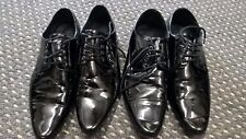mens black pointed patent shoes