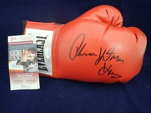Thomas Hearns Signed Auto Everlast Boxing Glove W/ HIT MAN JSA - WIT503787