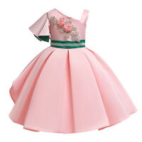 Girls Party Ball Gown Wedding Princess Dresses Kids Brides Maid Flower Pageant
