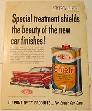 1960 Dupont Shield Liquid Car Finish Treatment Ad