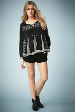 BNWT Kate Moss Topshop 2014 Black Suede Shorts AVAILABLE IN UK 8 10 RRP £75