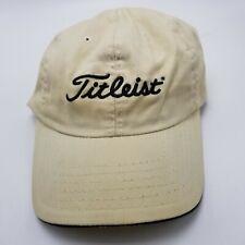 Titleist Hat Cap Golf White Strapback Used Adult W4