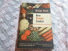 Vintage New Presto Cooker Recipe Book Cookbook National Presto Instructions Time