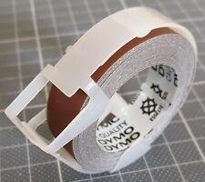 Vintage - Rouleau DYMO Embossing Tape 12 mm brun clair Matt - 3 mètres de long