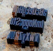 "A-Z alphabet 1.06"" letterpress wooden printing blocks wood type printer vintage."