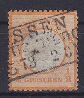 Brustschild Mi Nr. 18 mit R3 1873 gest., Deutsches Reich