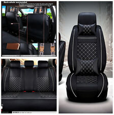 Breathable PU Leather Soft 5-seat Car Seat Covers Cushion Neck Lumber Pillows