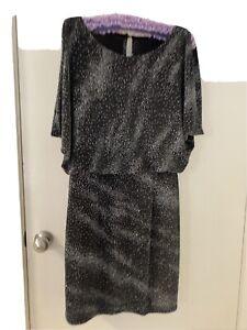Mr K Black Silver Gem Dress Size 12-14 Cocktail Evening