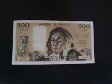 500   FRANCS   PASCAL  1986   X 235