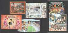 NW0145-7 CENTRAL AFRICA SPACE APOLLO FOOTBALL OLYMPICS TRAINS DIANA !!! 6BL MNH