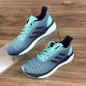 Adidas Womens Solar Drive Running Shoes Sneakers Green Purple Size 11.5 New