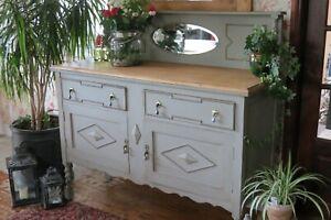 Antique oak sideboard, cabinet. Dresser.