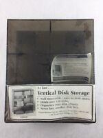 Vertical Disk Storage Floppy Diskette Disk File Holder Case Storage 120+ Disks