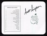 Scott Simpson Signed Masters Scorecard Autographed Golf Augustus Signature