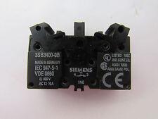 SIEMENS 3SB3400-OB 400V AC 12 10A CONTACT BLOCK