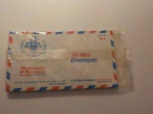 Vintage Fifth Avenue 25 Airmail Envelopes Woolworth Original Package
