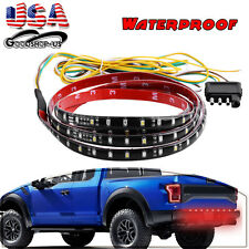 "60"" LED Car Truck Tailgate Strip Bar 5-Function Brake Reverse Turn Signal Light"