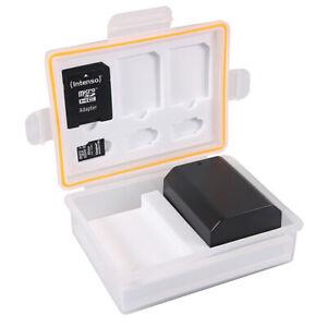 PATONA Aufbewahrungsbox für Akkus und Speicherkarten NB-2L LP-E10 LP-E12, LP-E17