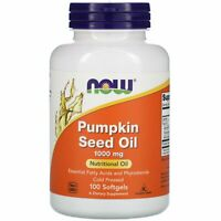Now Foods Pumpkin Seed Oil 1000 mg 100 Softgels GMP Quality Assured