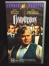 COMPULSION ~ ORSON WELLS, DEAN STOCKWELL, E.G. MARSHALL ~ RARE AS NEW VHS VIDEO