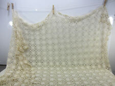 Vintage Crocheted Section For Projects- Flower Design