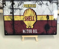 Shell   Garage Sign Classic Metal Shed Workshop ,Man Cave , pub