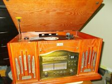 Record Player Curtis Retro Style Wooden Cabinet With AM/FM Radio Cassette Player