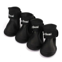 4 pieces Dog Rain Boots Waterproof Shoes Accessories Pet Dog Medium Size (B X6M5