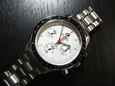 Alpha Hand Winding 30-min Chronograph Speedmaster Watch On Display Case Back