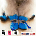 4 Pcs Winter Pet Dog Shoes Cover Footwear Rain Shoes Snow Boots Anti-Slip USA