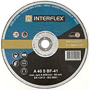 230 mm Trennscheibe Edelstahl | Feinschnitt 1,9 mm | Inox Stahl Metall