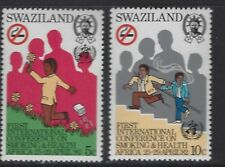 SWAZILAND 1982 SC#403-404 CONFERENCE ON SMOKING & HEALTH COMPLETE MNH SET 0349
