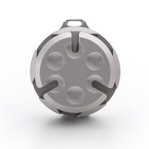 COIN CAPSULE Portable Metal Coin Holder with Stainless Steel Clip