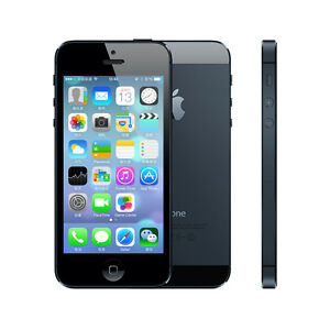 "Original Apple iPhone 5/5G - iOS 16GB 4.0"" 4G Unlocked Smartphone - White/Black"