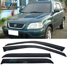 For 98-01 Honda CRV CR-V LX EX Dark Smoke 4PC Sun Window Visors Rain Guard Shade