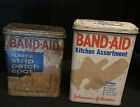Lot Of 2 Vintage Band-Aid Brand Metal Tin'a Late 70s Early 80s Johnson & Johnson