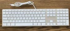 Apple  slim USB Wired Keyboard A1243 MB110LL/A Aluminum standard  Full Size gift