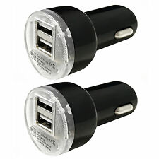 2x Pack Dual 2.1A 2-Port USB Car Charger Adapter For iPhone Samsung LG Universal