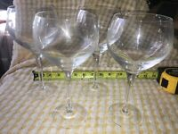 """4 Elegant Clear Crystal Stemware Red White Wine Water Glass 8 1/4"""" Tall Champagn"""