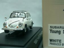 WOW EXTREMELY RARE Subaru 360 Young SS RHD 1969 White Black Roof 1:43 Ebbro-DISM