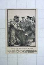 1917 Gen Smuts Shaking Hands With Lord Desborough After Inaugural Flight