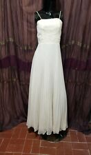 Vintage 70's Embroidered Lace Sheer Pleated Dress