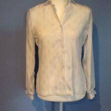 Vintage Womens Lanvin White Size 6 Long Sleeve Blouse