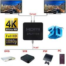 2 Port HDMI Y Splitter Amplifier 1 In 2 Out Dual Display TV HDTV