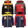 Boys Despicable Me Jacket Coat Padded Hood Nickelodeon Minion Paw Fleece Winter