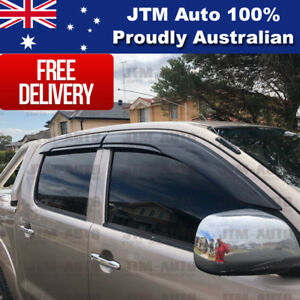 Best Weathershields Weather Shield Window Visor to suit Toyota Hilux 2005-2014